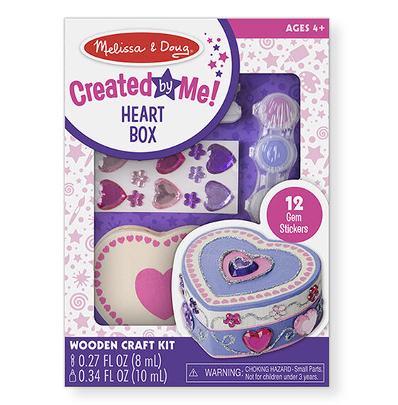 Melissa & Doug - Decorate Your Own Wooden Heart Box Set