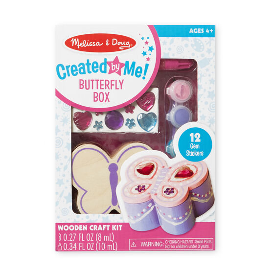 Melissa & Doug - Created by Me! Butterfly Box Wooden Craft Kit