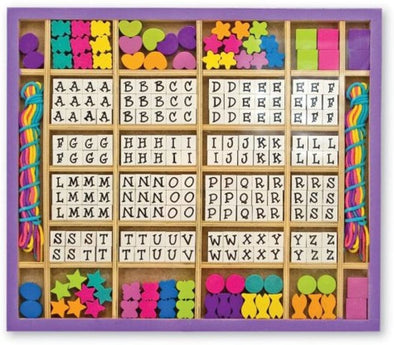 Melissa and Doug - Wooden Alphabet Beads