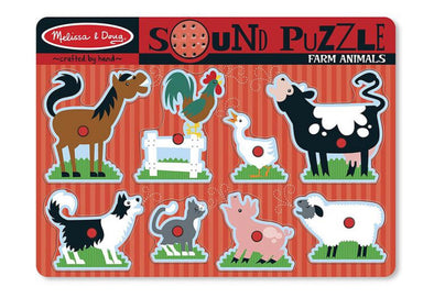 Melissa and Doug Sound Puzzle- Farm