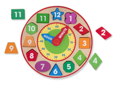 Melissa and Doug- Shape Sorting Clock