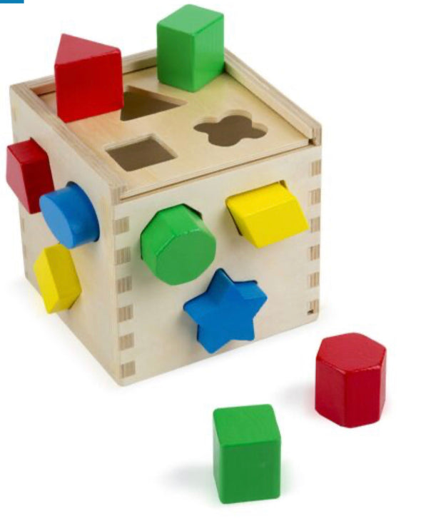 Melissa and Doug- Shape Sorting Cube
