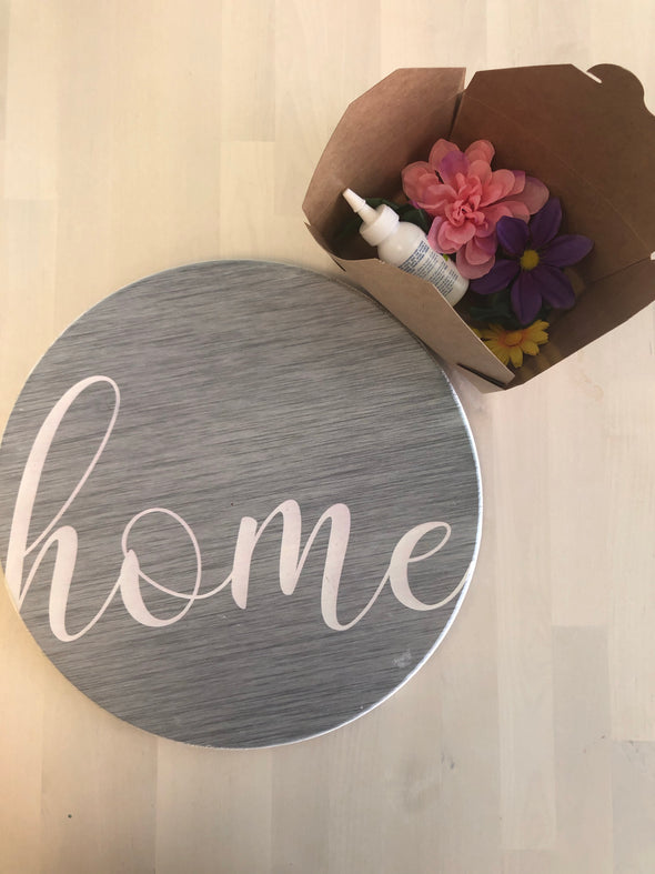 "DIY ""Home"" Sign"