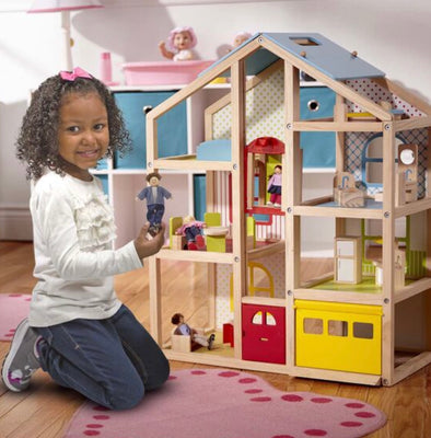 Preorder - Melissa and Doug- Wooden Dollhouses