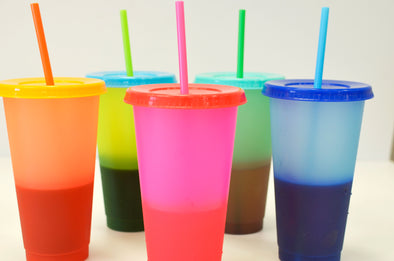 Colour changing cups- 5 pack
