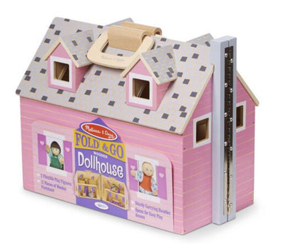 Melissa and Doug - Fold and Go Mini Doll house
