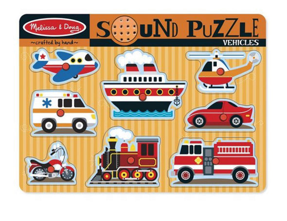 Melissa and Doug Sound Puzzle- Vehicles