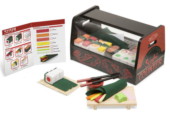 Preorder- Melissa and Doug- wooden Sushi Counter