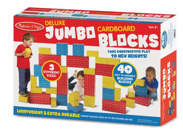 Melissa and Doug- Deluxe Jumbo Cardboard Blocks