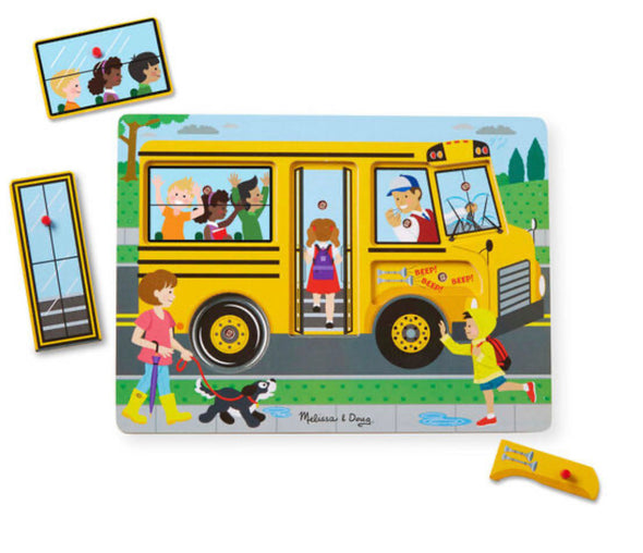 Preorder - Melissa and Doug - Wheels in the Bus Sound Puzzle