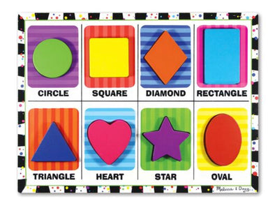 Melissa and Doug- Shapes Chunky Puzzle