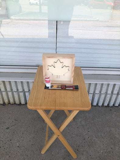 Paint your own Canada Day wooden project