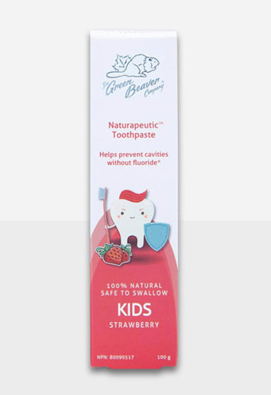 Green Beaver Children's Naturapeutic Toothpaste- Strawberry