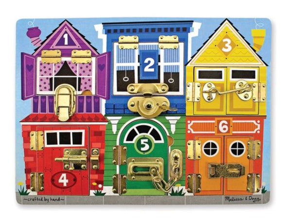 Preorder Melissa and Doug - Wooden Latches Board