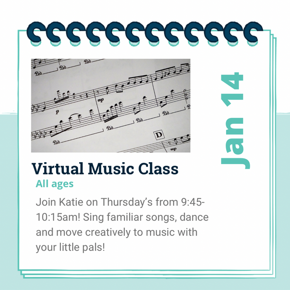 Virtual Pal Music Class- Jan 14- March 4th