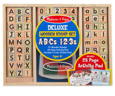 Melissa and Doug- Deluxe Stamp Set ABC 123