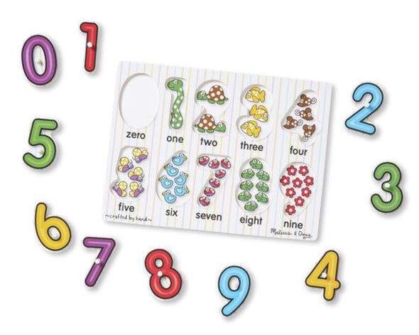 Preorder Melissa and Doug - See Inside Numbers Peg Puzzle