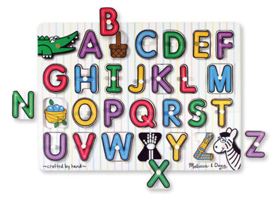 Melissa and Doug - See Inside Alphabet Peg Puzzle