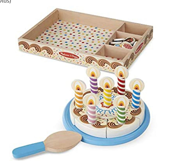 Preorder Melissa and Doug Wooden Birthday Cake