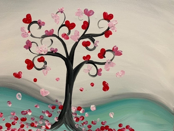 Valentines Family Paint Project! Feb 13th, 3:30-4:30pm.