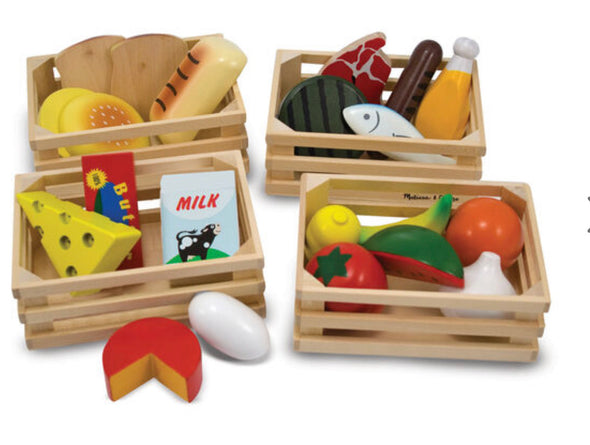 Preorder- Melissa and Doug - Food Groups Wooden Food