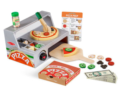 Preorder- Melissa and Doug- wooden Pizza Counter