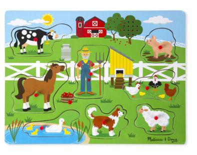Melissa and Doug- Old Macdonalds Farm Sound Puzzle