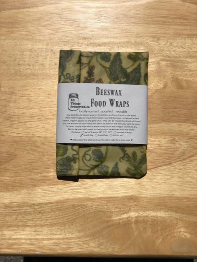 Beeswax wrap snack bag