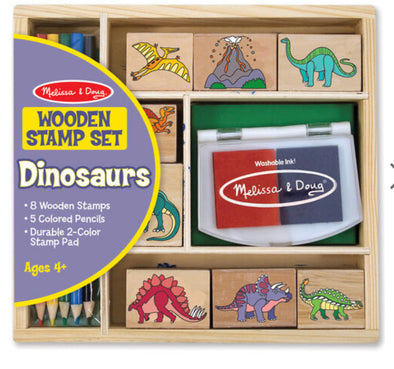 Preorder- Melissa and Doug- Dinosaur Stamp Set