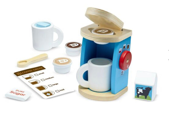 Preorder- Melissa and Doug - Wooden Brew and Serve Coffee Set