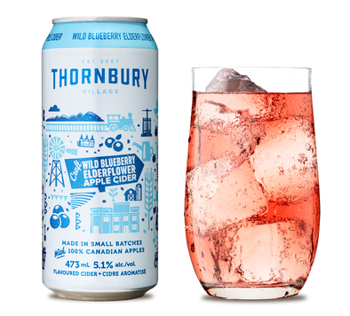 Thornbury Wild Blueberry Elderflower Apple Cider