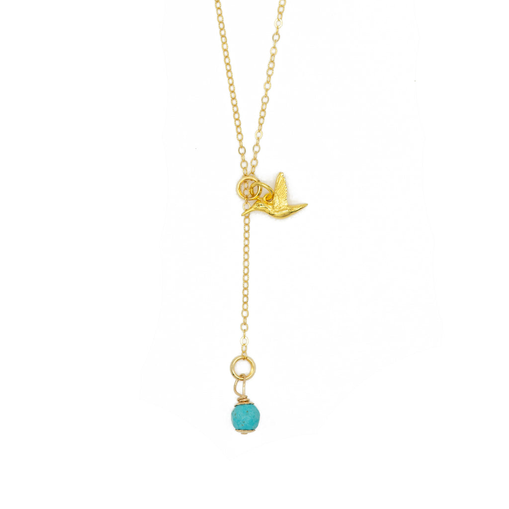 14K Hummingbird Necklace