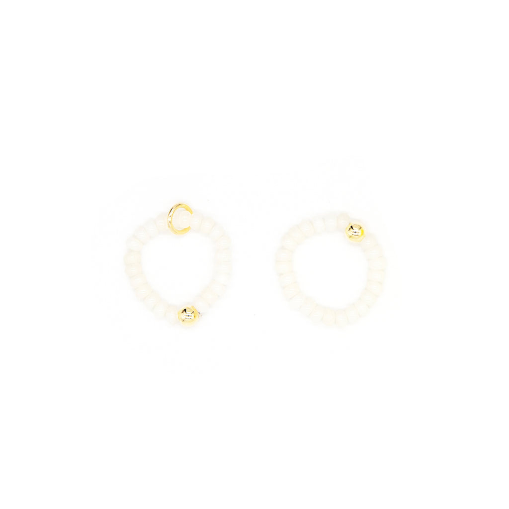 3mm Button Ivory Bamboo Coral