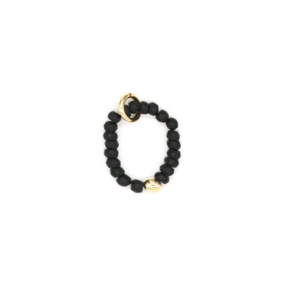 3mm Matte Black Agate
