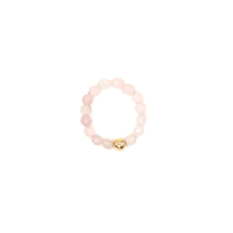 3mm Rose Quartz Ring