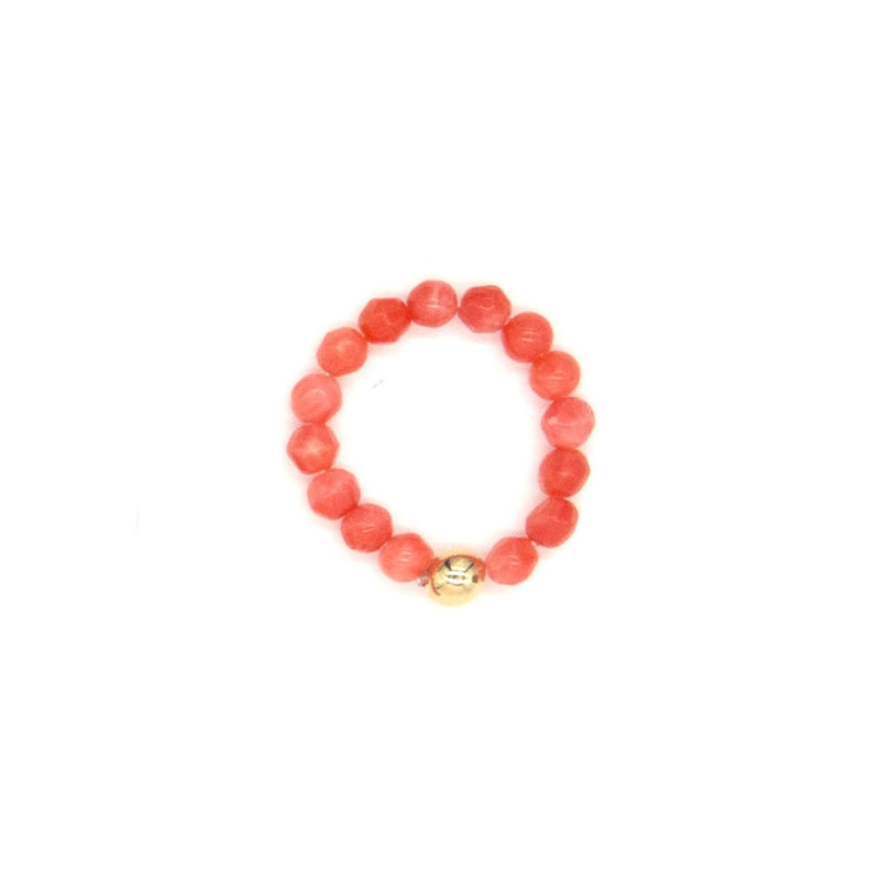 3mm Salmon Bamboo Coral Ring