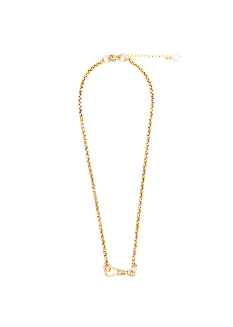 Charm Holder Box Chain Necklace