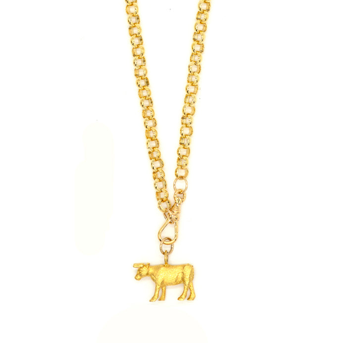 Vintage Cow Necklace
