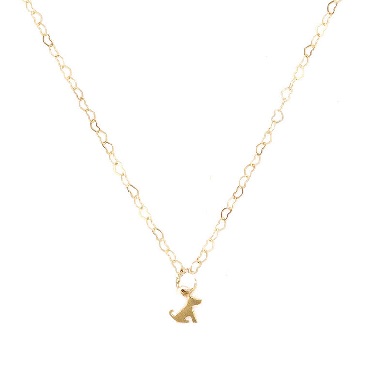 Petite Dog Charm Necklace