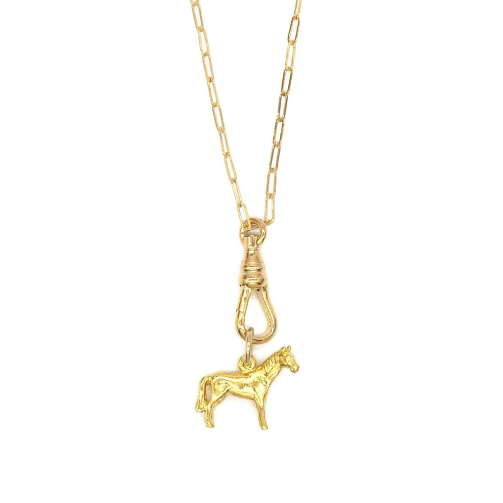 Vintage Sterling Horse Charm Necklace