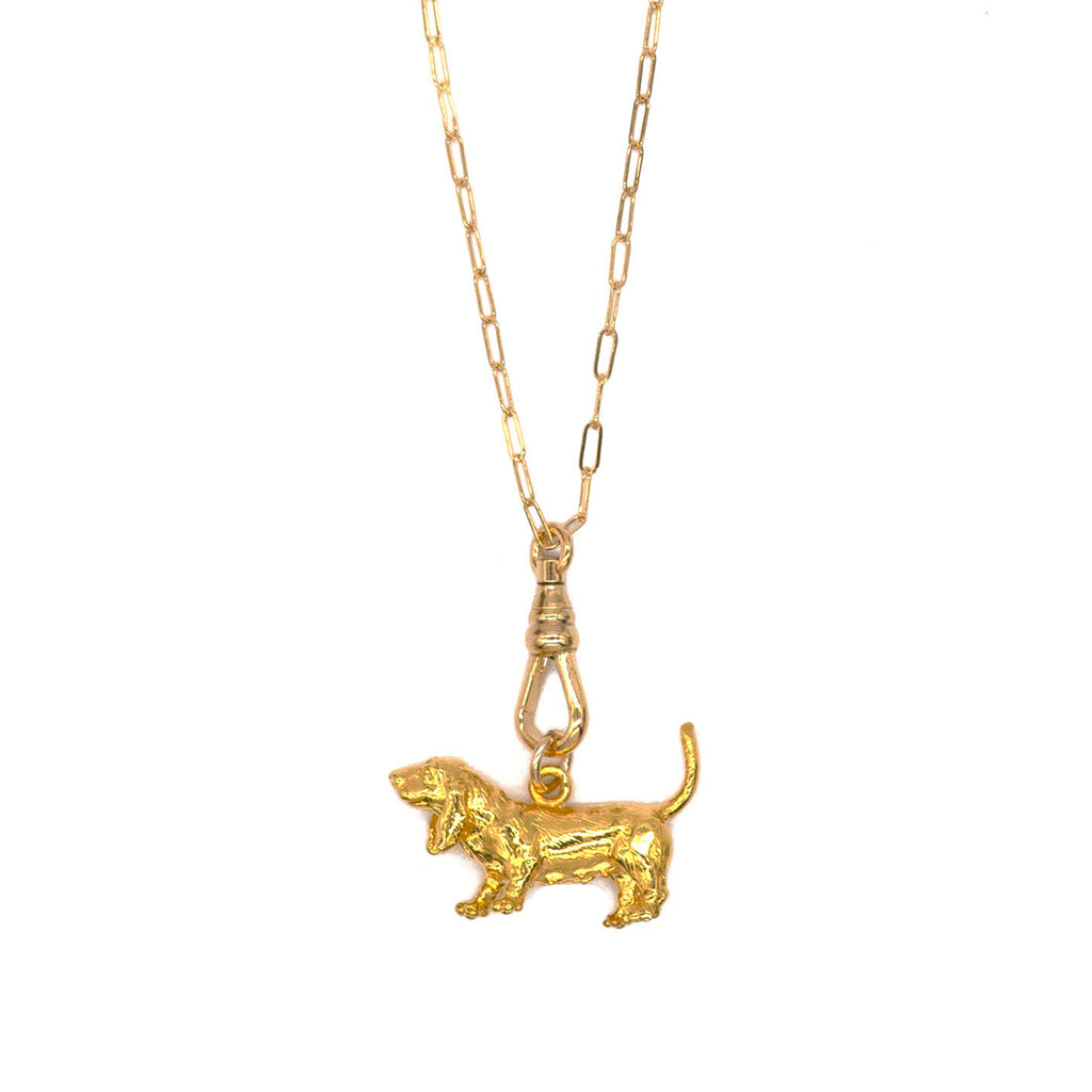 Vintage Large Dog Charm Necklace