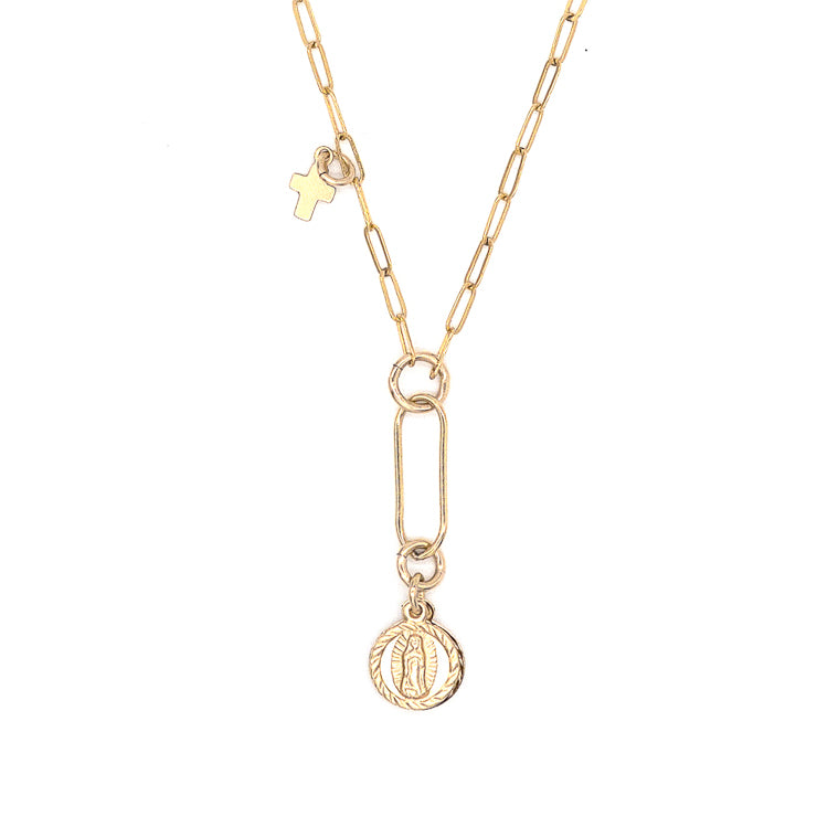 Day to Night Mother Mary Necklace