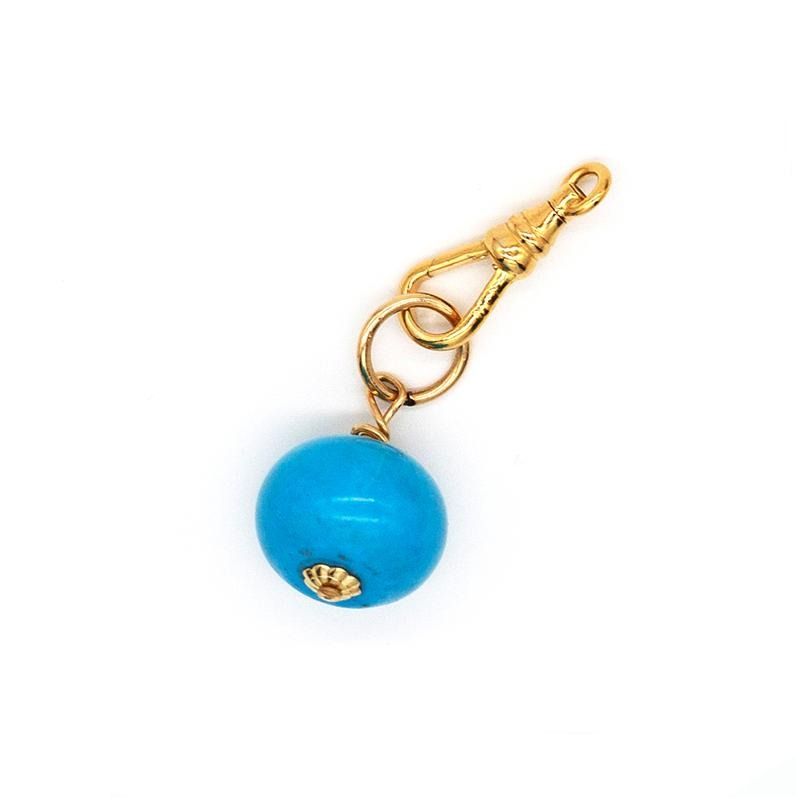 Turquoise Ball Charm