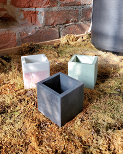 Cube Planters by Poured Forms