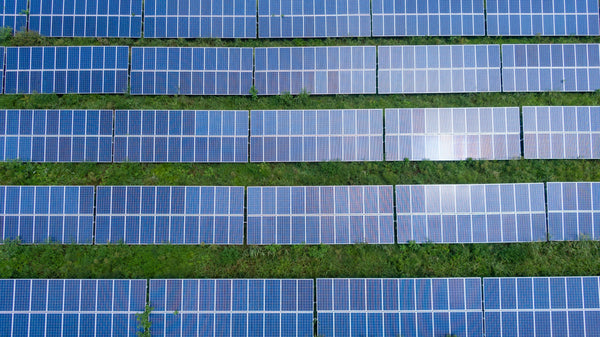 aerial picture of solar panels