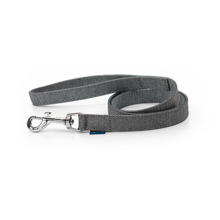 Black white fabric ecofriendly stylish dog leash project blu adriatic