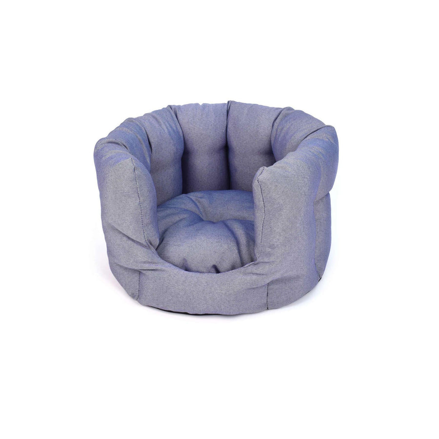 Blue fabric cosy cat bed ecofriendly project blu bengal