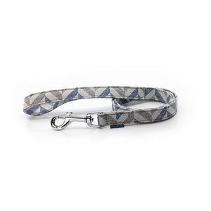 Blue grey fabric ecofriendly dog leash project blu danube