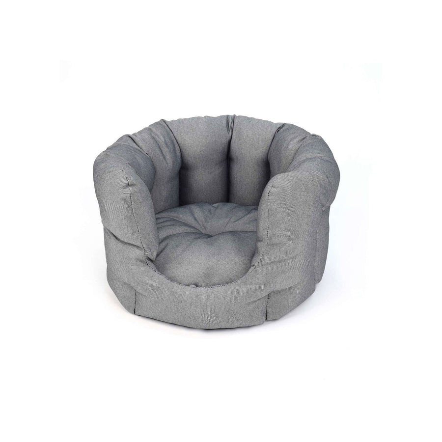 Dark grey ecofriendly cat bed soft fabric project blu adriatic