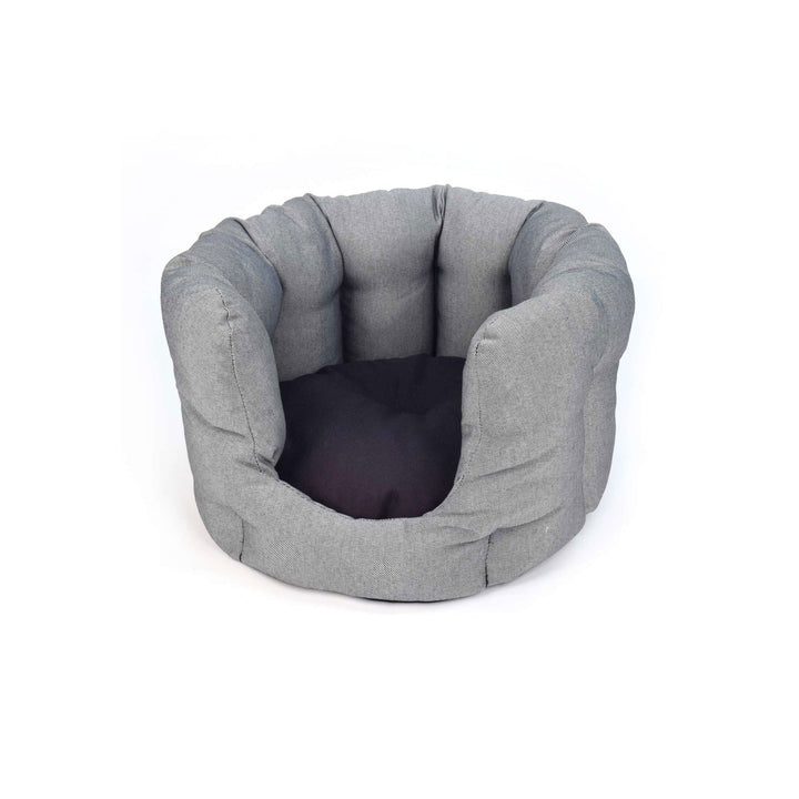 Dark grey fabric ecofriendly cat bed project blu adriatic